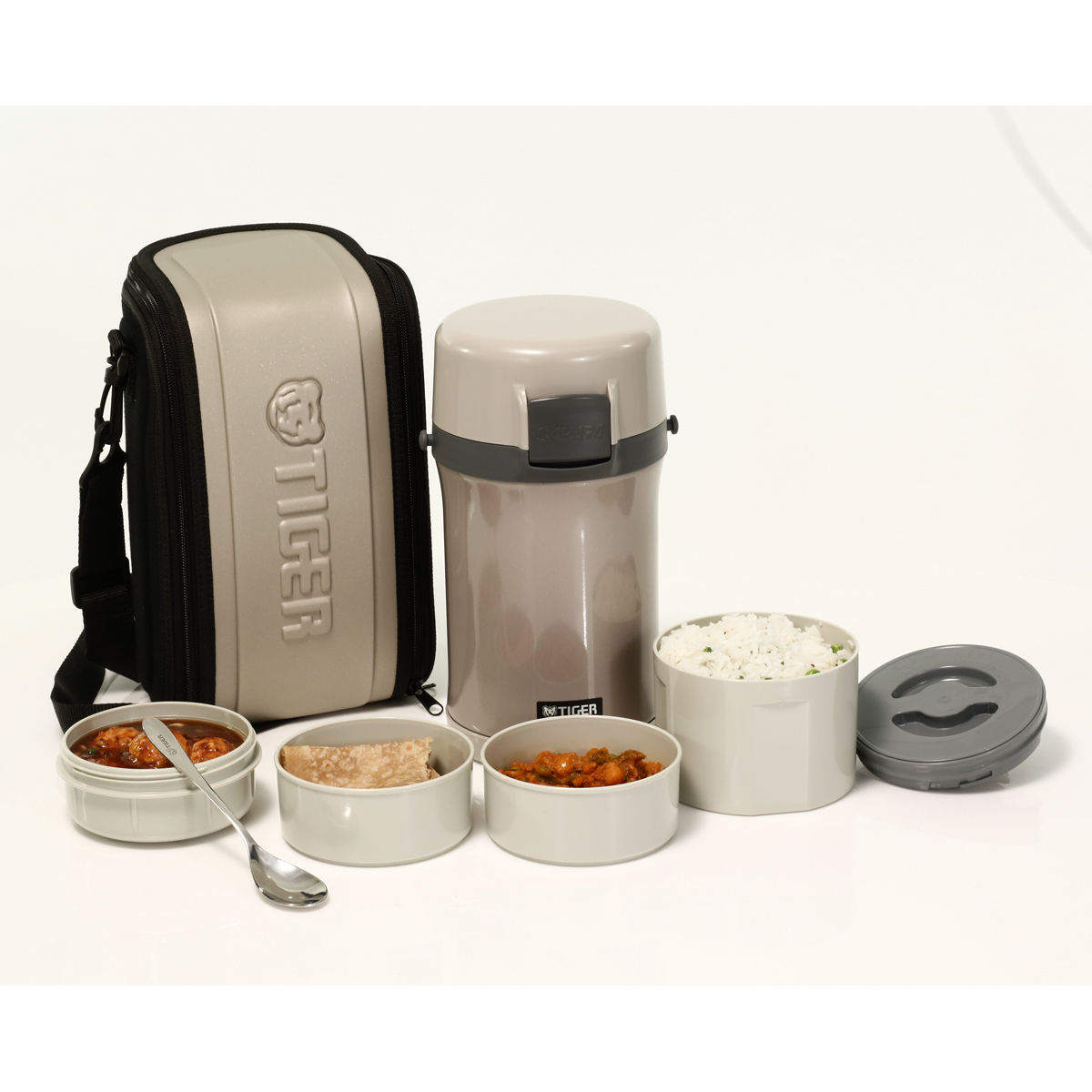 5749bce3075 Buy 6 Pcs Tiger Thermal Lunch Box Online at Best Price in India on  Naaptol.com
