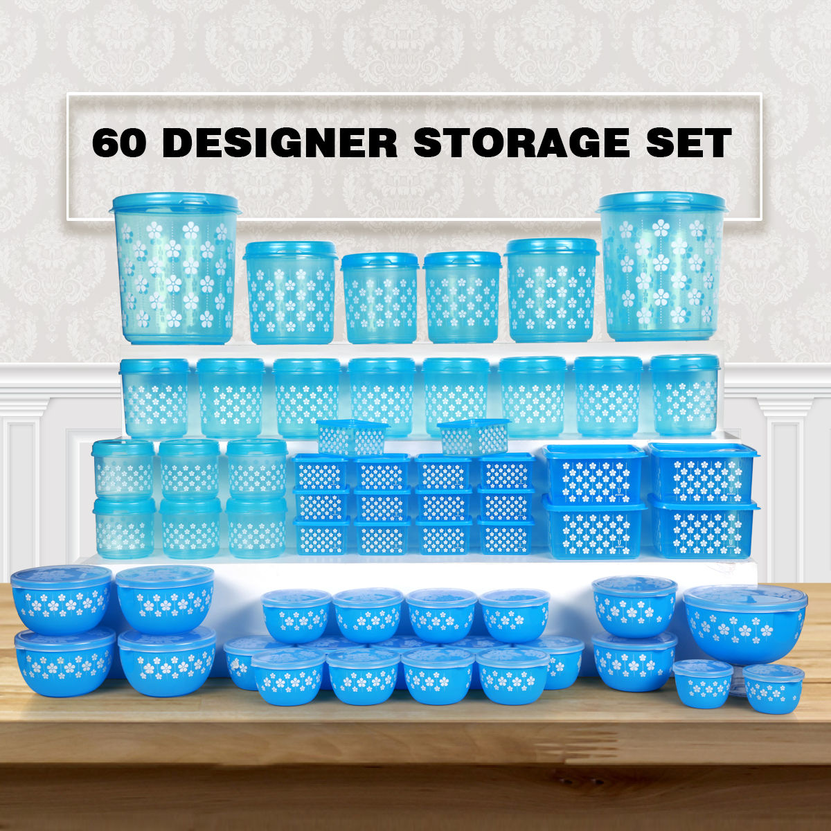 Buy 60 Designer Storage Set Online At Best Price In India On Naaptol Com