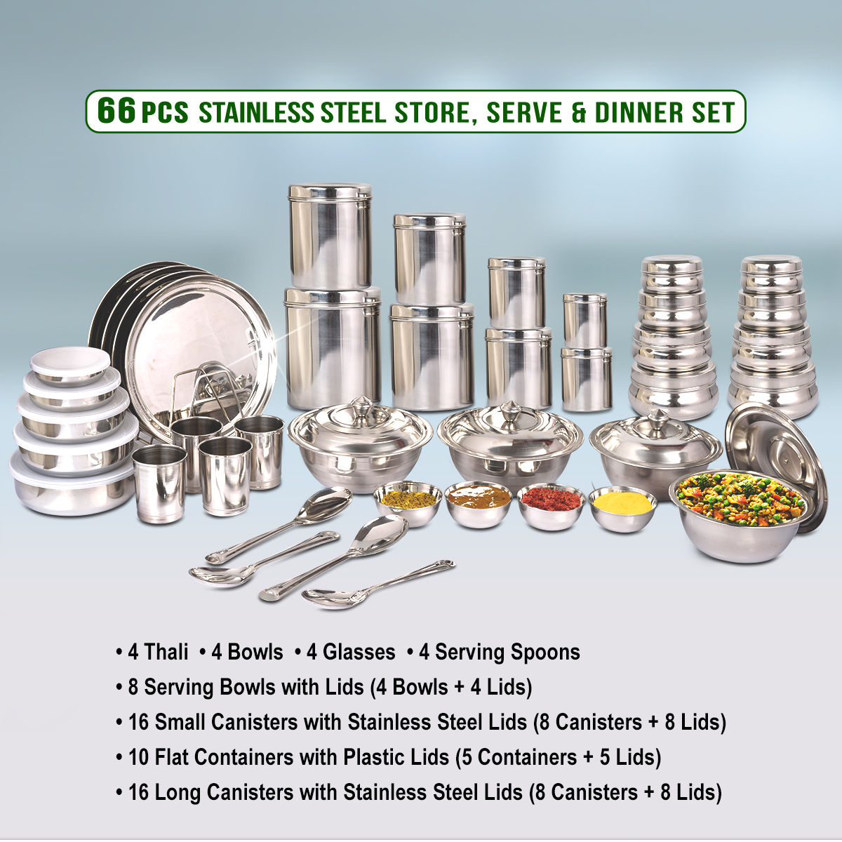 Buy 66 Pcs Store Serve Dinner Set Online At Best Price In India