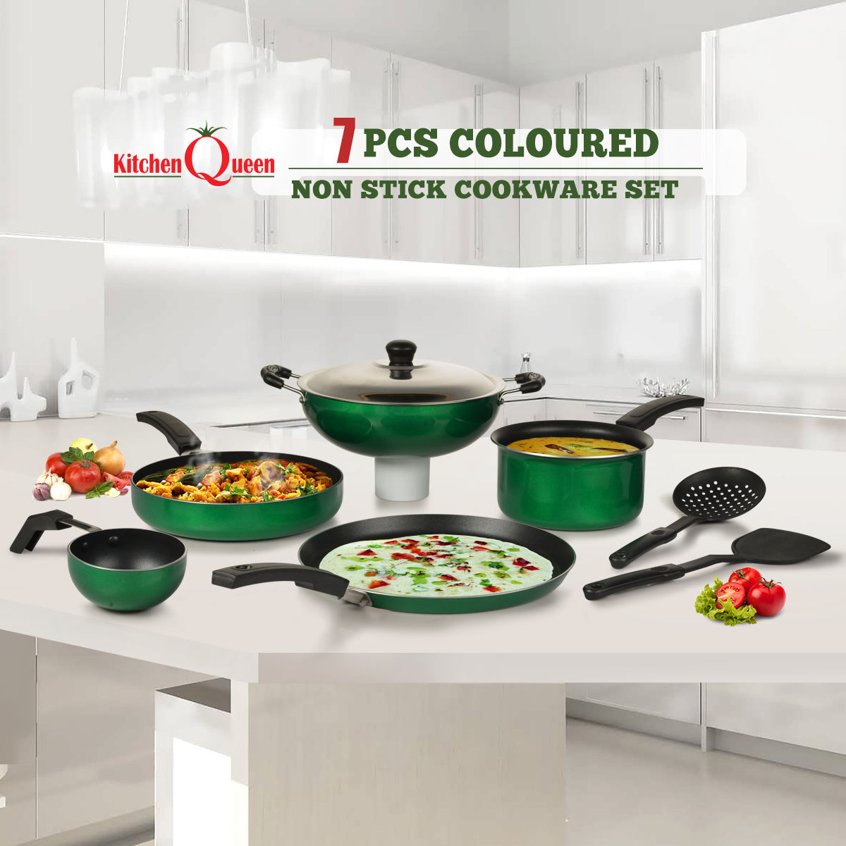 Buy 7 Pcs Colored Non Stick Cookware Set Online At Best Price In
