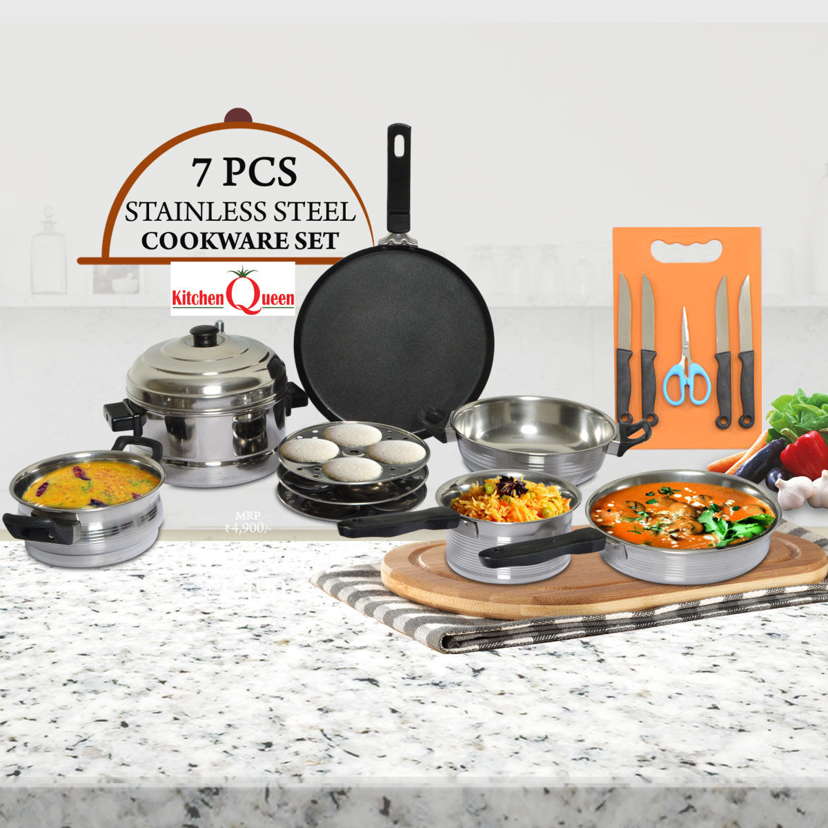 Buy 7 Pcs Stainless Steel Cookware Online At Best Price In India On