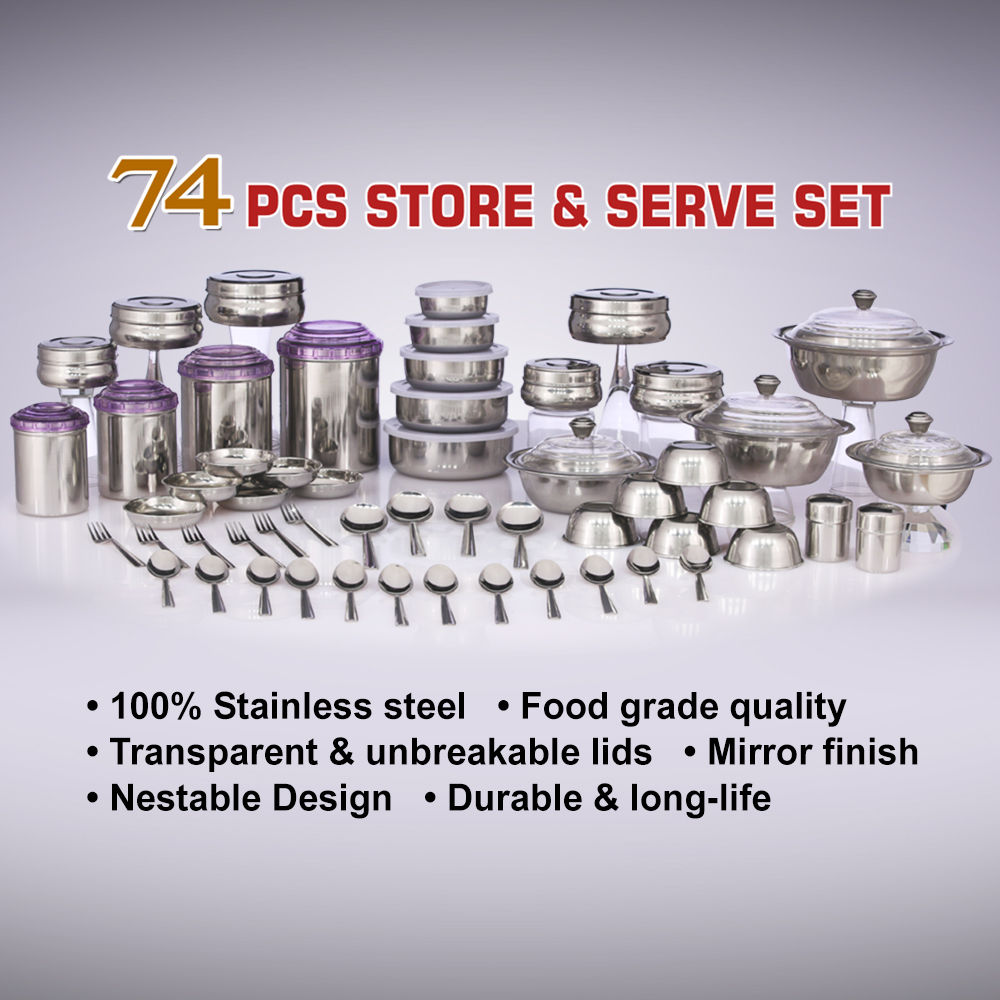 Buy 74 Pcs Store Serve Set Online At Best Price In India On