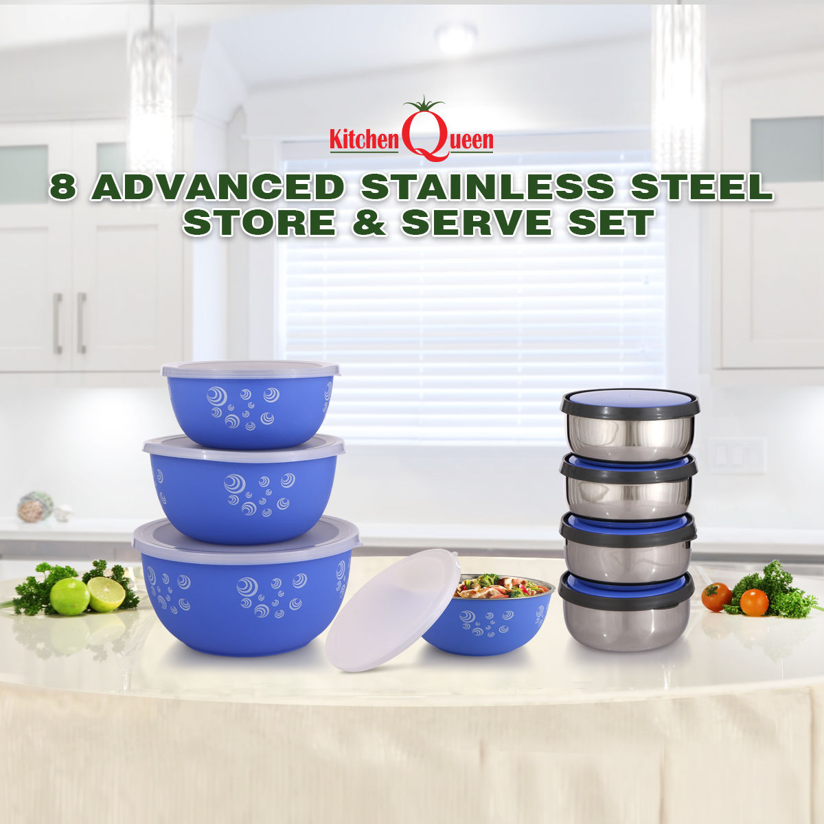 Buy 8 Advanced Stainless Steel Store Serve Set Online At Best