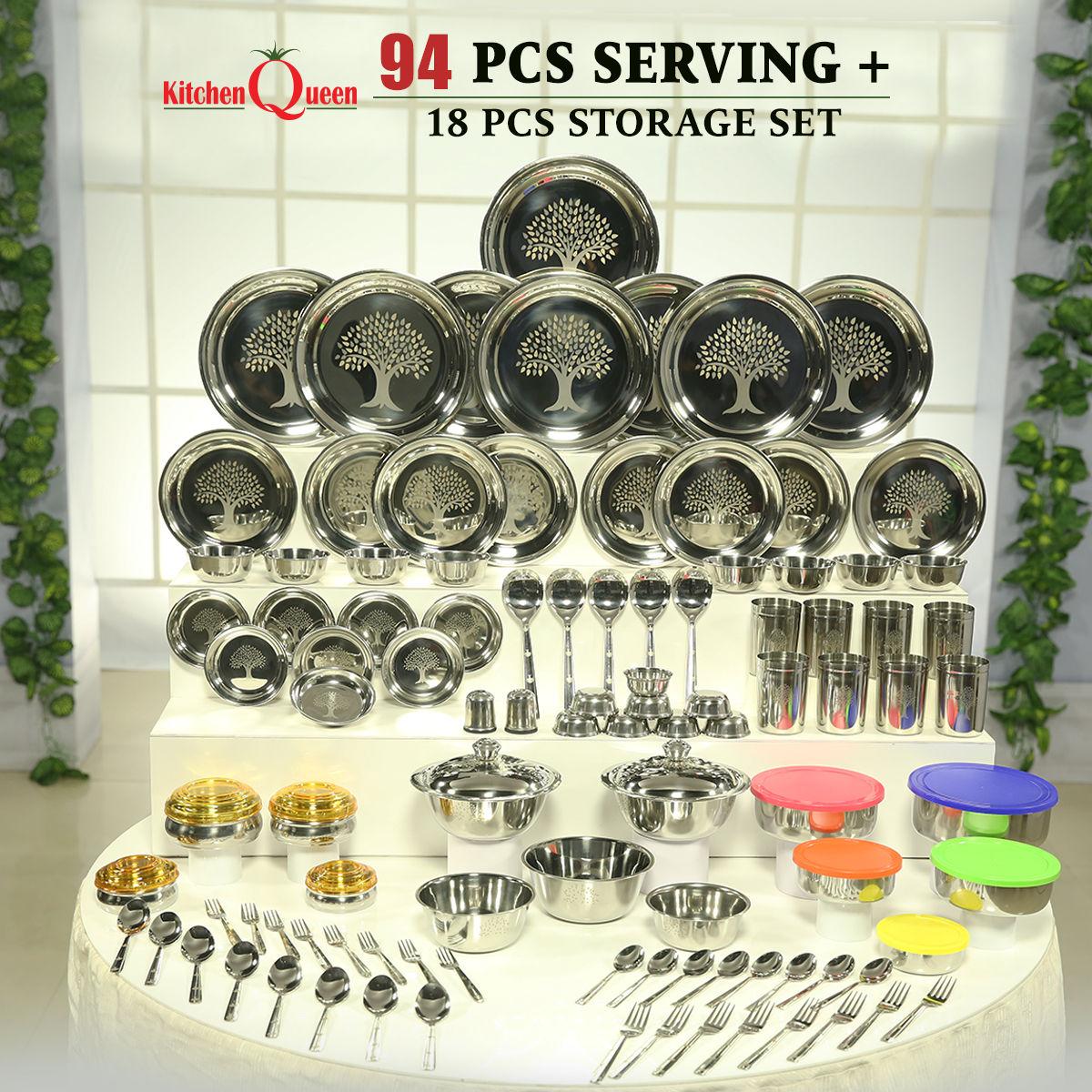Buy 94 Pcs Serving 18 Pcs Storage Set Online At Best Price In India On Naaptol Com