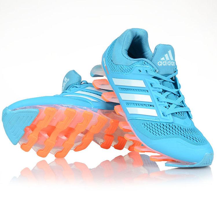 f41d9740dfc3 Adidas Breathable Nylon Mesh Sports Shoes 008  Sky   Orange .