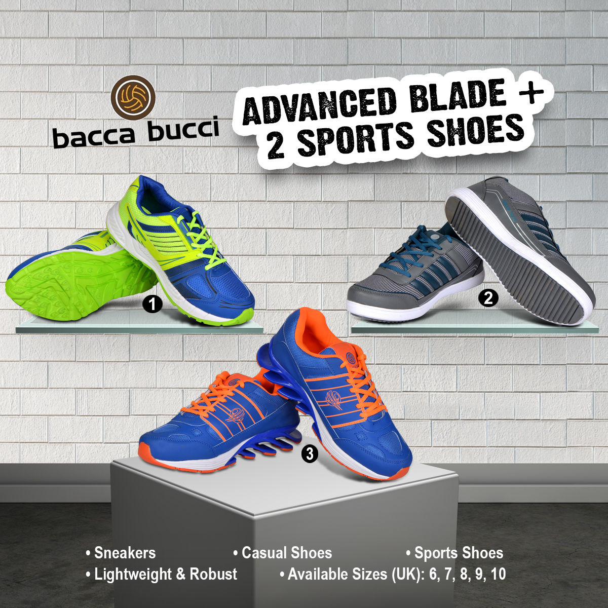 Buy Advanced Blade + 2 Sports Shoes Online at Best Price in India on  Naaptol.com 2192e99ab0bb