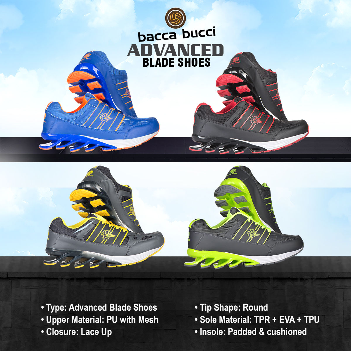 Buy Bacca Bucci Advanced Blade Shoes Online at Best Price in India on  Naaptol.com f8f1b73db7ab