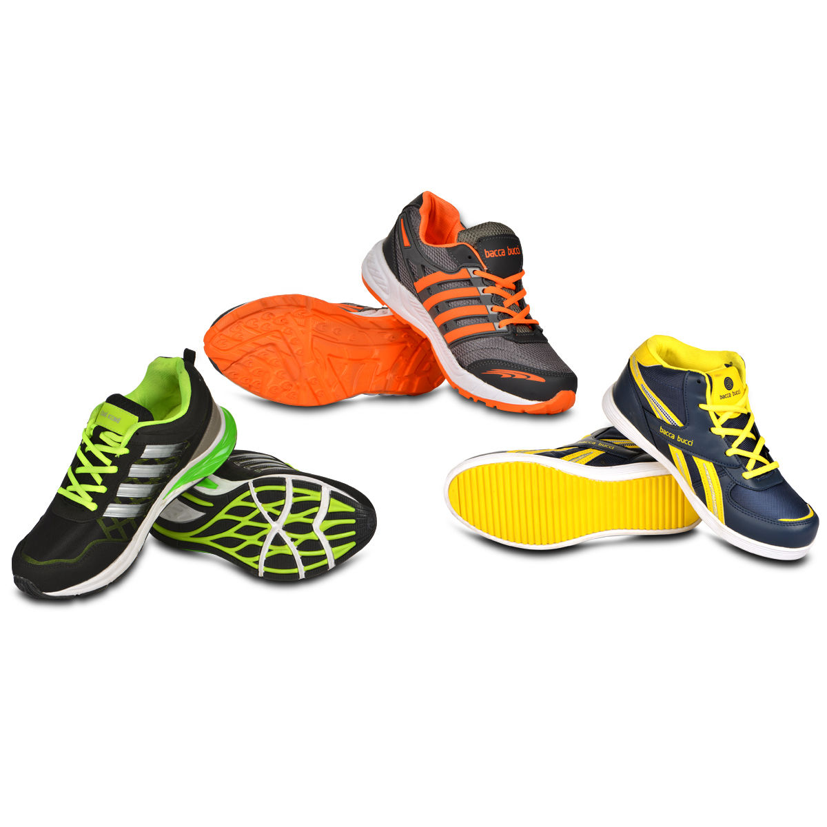 Buy Bacca Bucci Set of 3 Sports Shoes