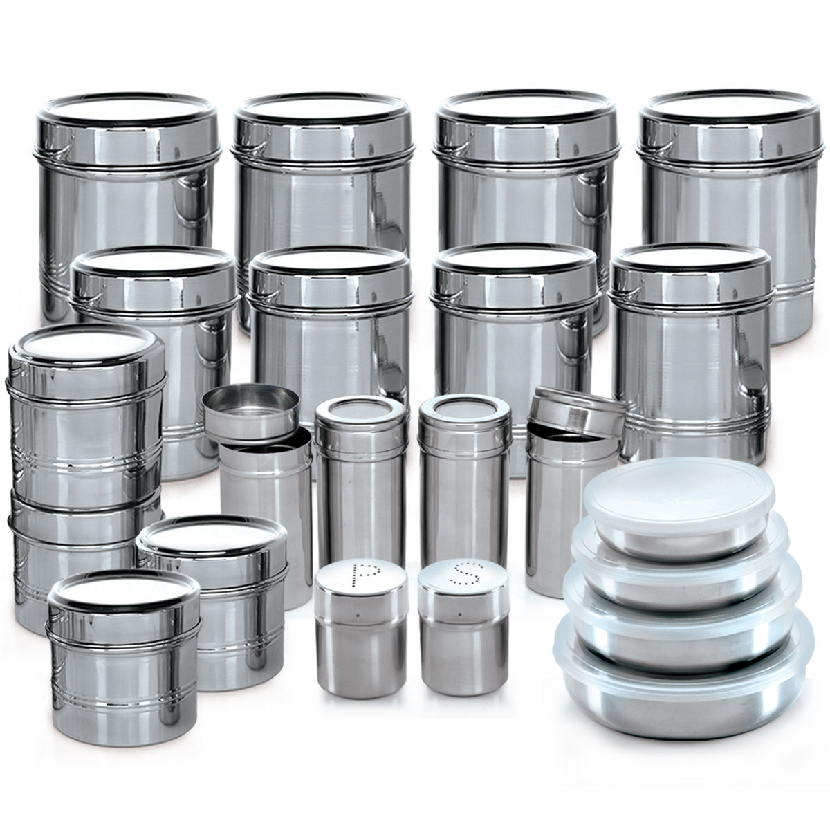 Buy Branded 44 Pcs Stainless Steel Storage Set Online At Best Price