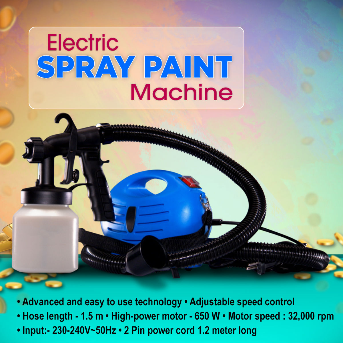 buy electric spray paint machine online at best price in india on rh naaptol com Paint Sprayer Parts Paint Sprayer Parts