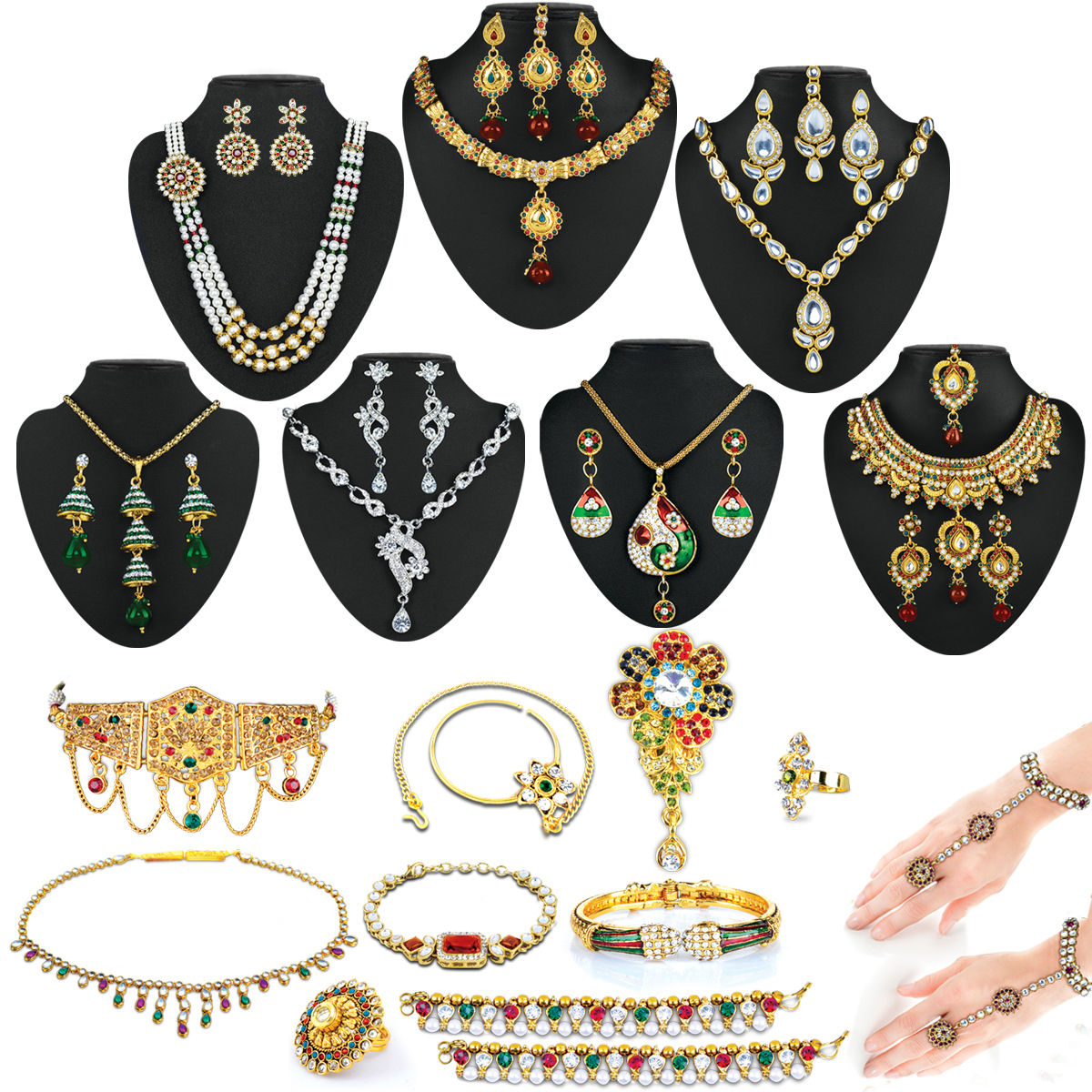 Buy Bride of India - Exclusive Kundan Jewellery Collection from ...