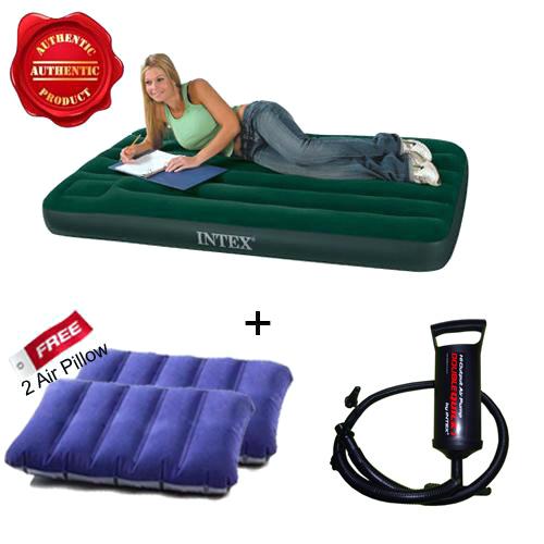 Air Sofa Rate: Buy Combo Of Intex Air Mattress + Pump + Free 2 Pillows