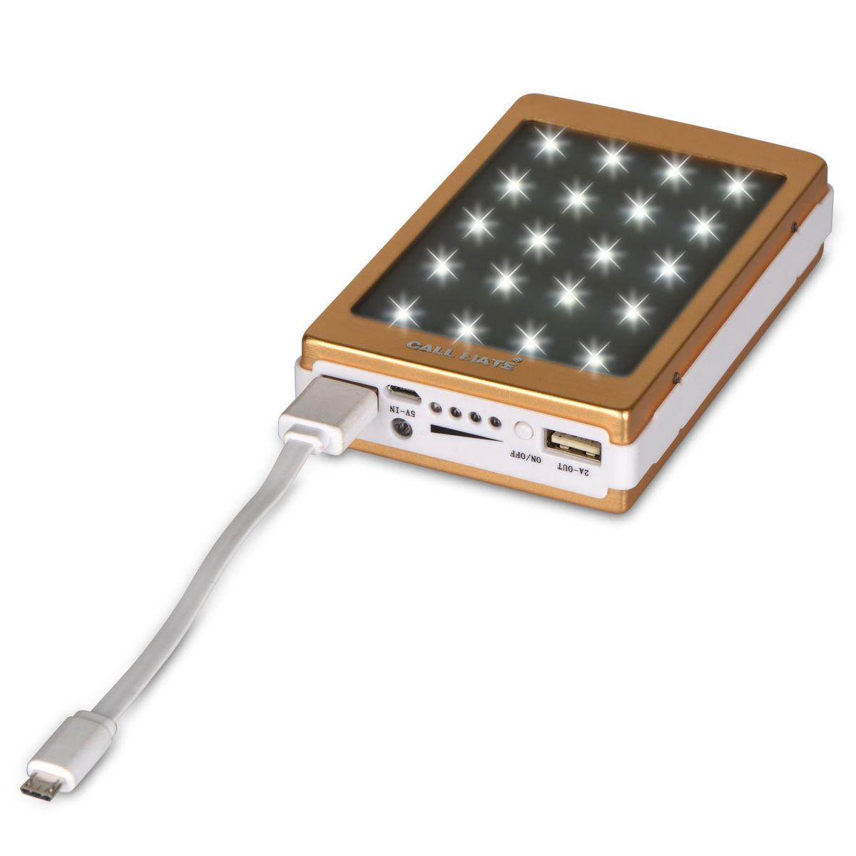 Buy Callmate 10000 mAh Solar Power Bank with Emergency ...