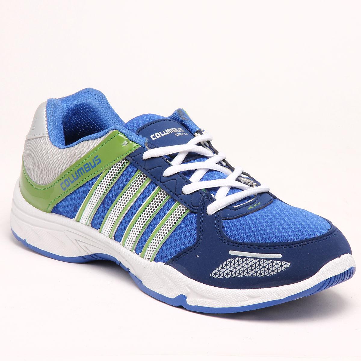 buy columbus pu sports shoes blue green 5627 at