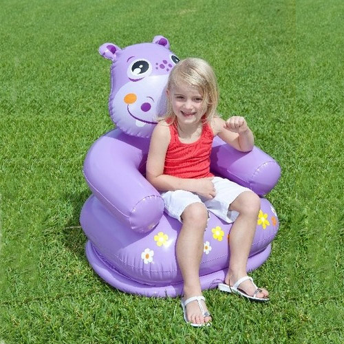 Air Sofa Naaptol: Buy Kids Inflatable Hippo Chair With Head Backrest Online