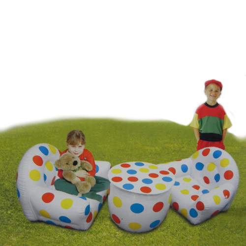 Air Sofa Naaptol: Buy Set Of 3pcs Inflatable Sofa Set & Table For Kids