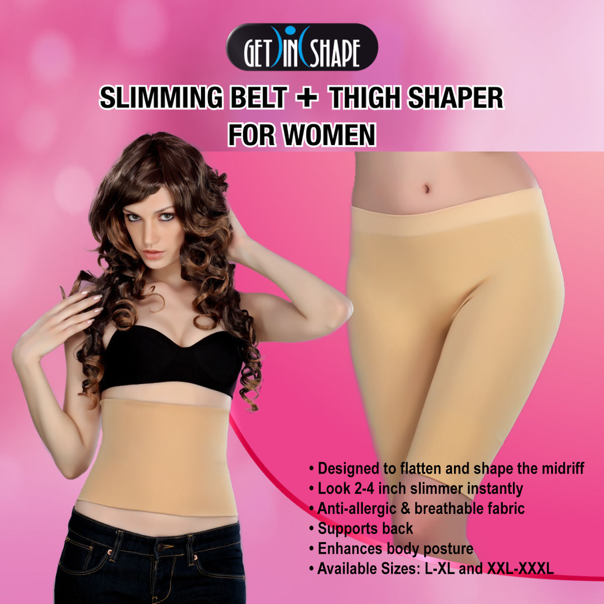 7c348f58af Buy Get In Shape Comfortable Slimming Belt + Thigh Shaper for Women Online  at Best Price in India on Naaptol.com