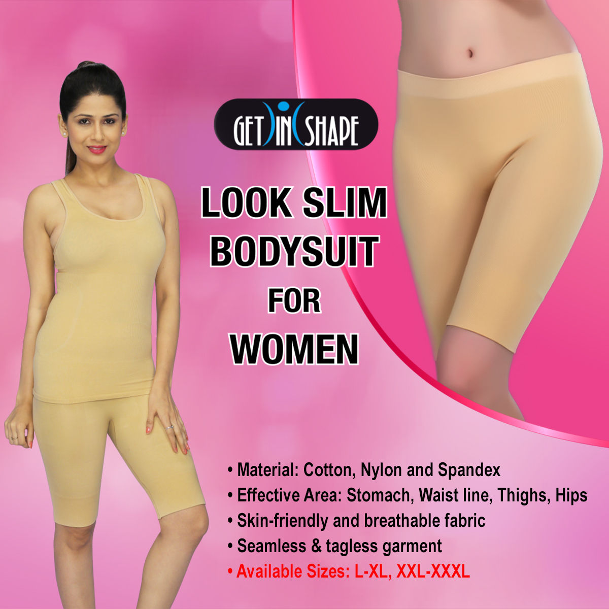 f60bff0ab2 Buy Get In Shape Look Slim Bodysuit for Women Online at Best Price in India  on Naaptol.com