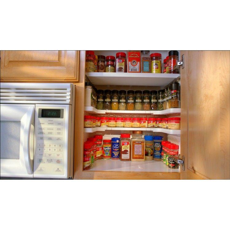 kawachi spicy shelf spice rack stackable kitchen organizer jars u0026 cans cosmetic perfume k221