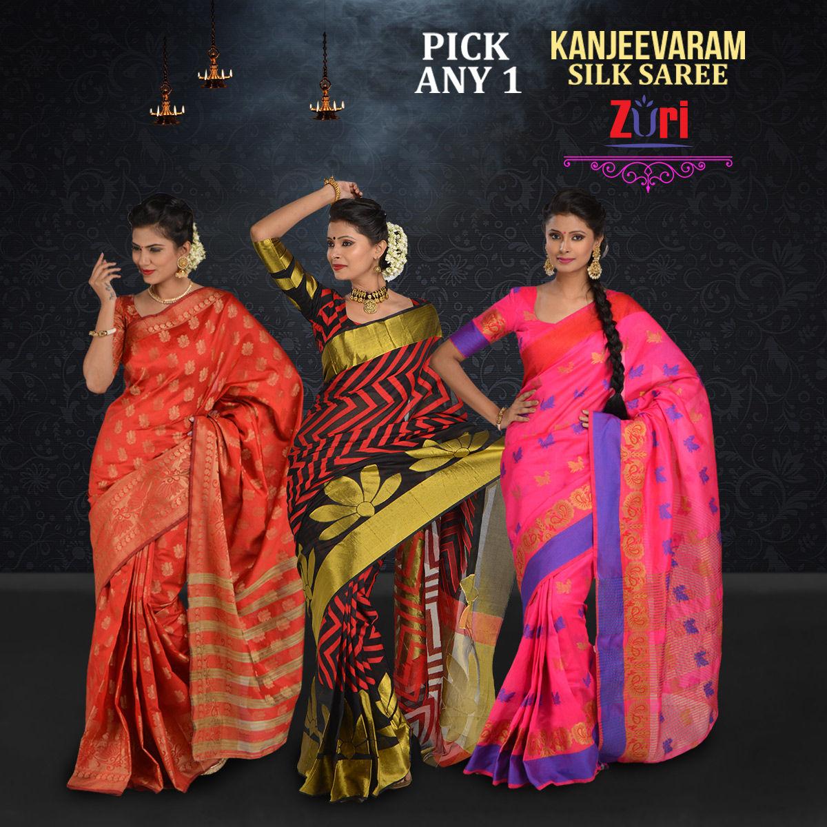 c72e78870f6 Buy Pick Any One Kanjeevaram Silk Saree (KSS4) Online at Best Price in India  on Naaptol.com