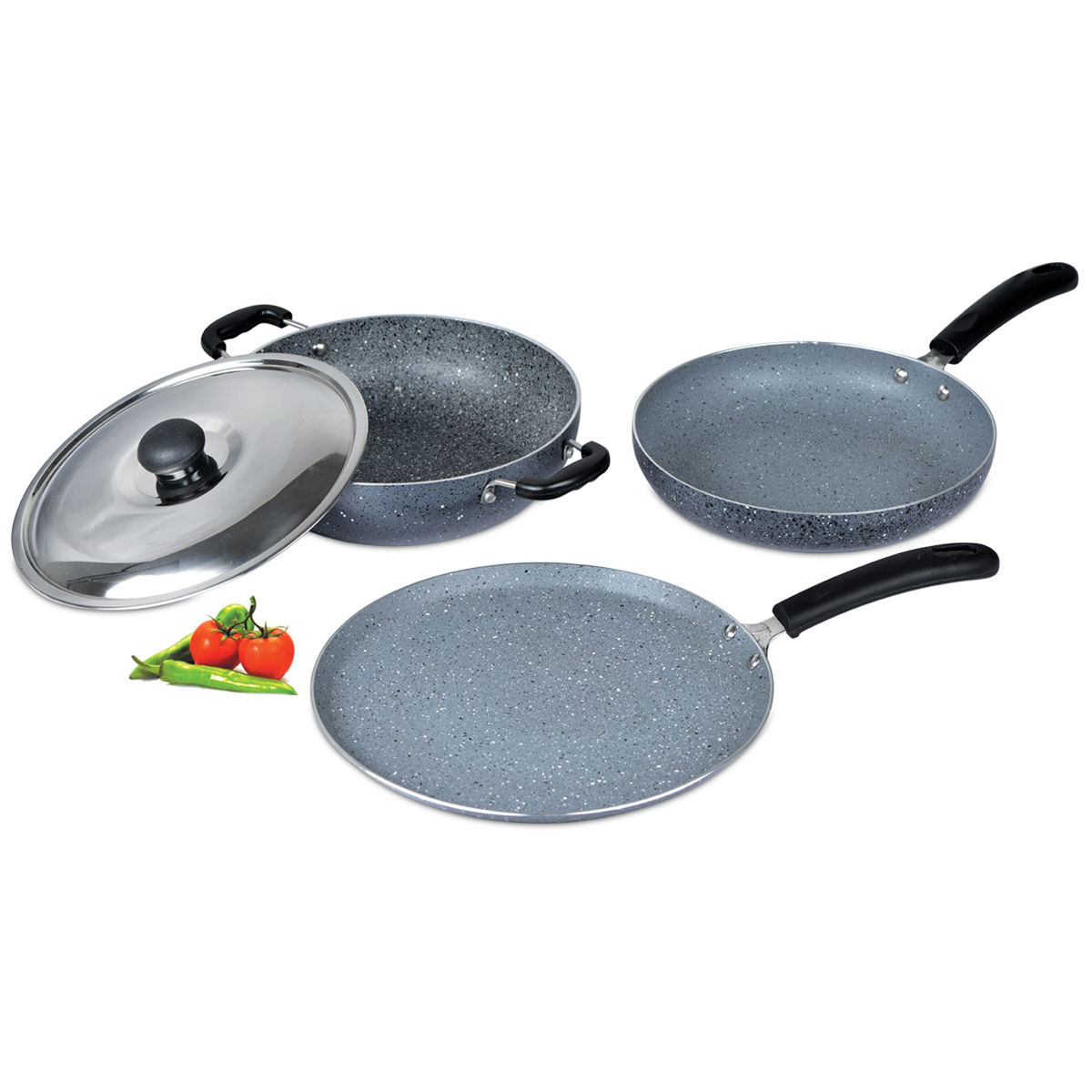 Buy 3 Pcs Granite Texture Finish Cookware Online At Best Price In