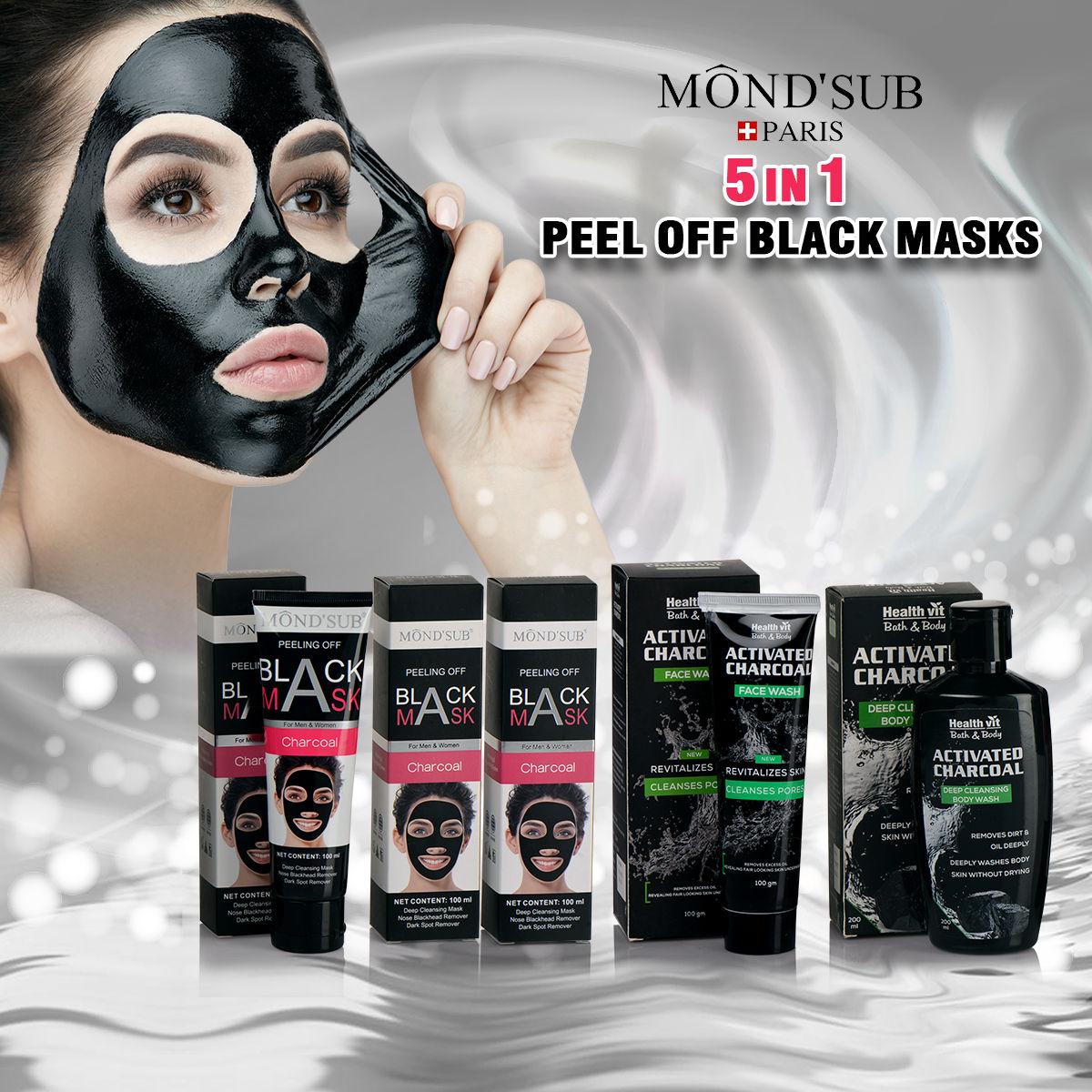 c4816a35b0 Buy MondSub Paris 5 in 1 Peel Off Black Masks Online at Best Price in India  on Naaptol.com