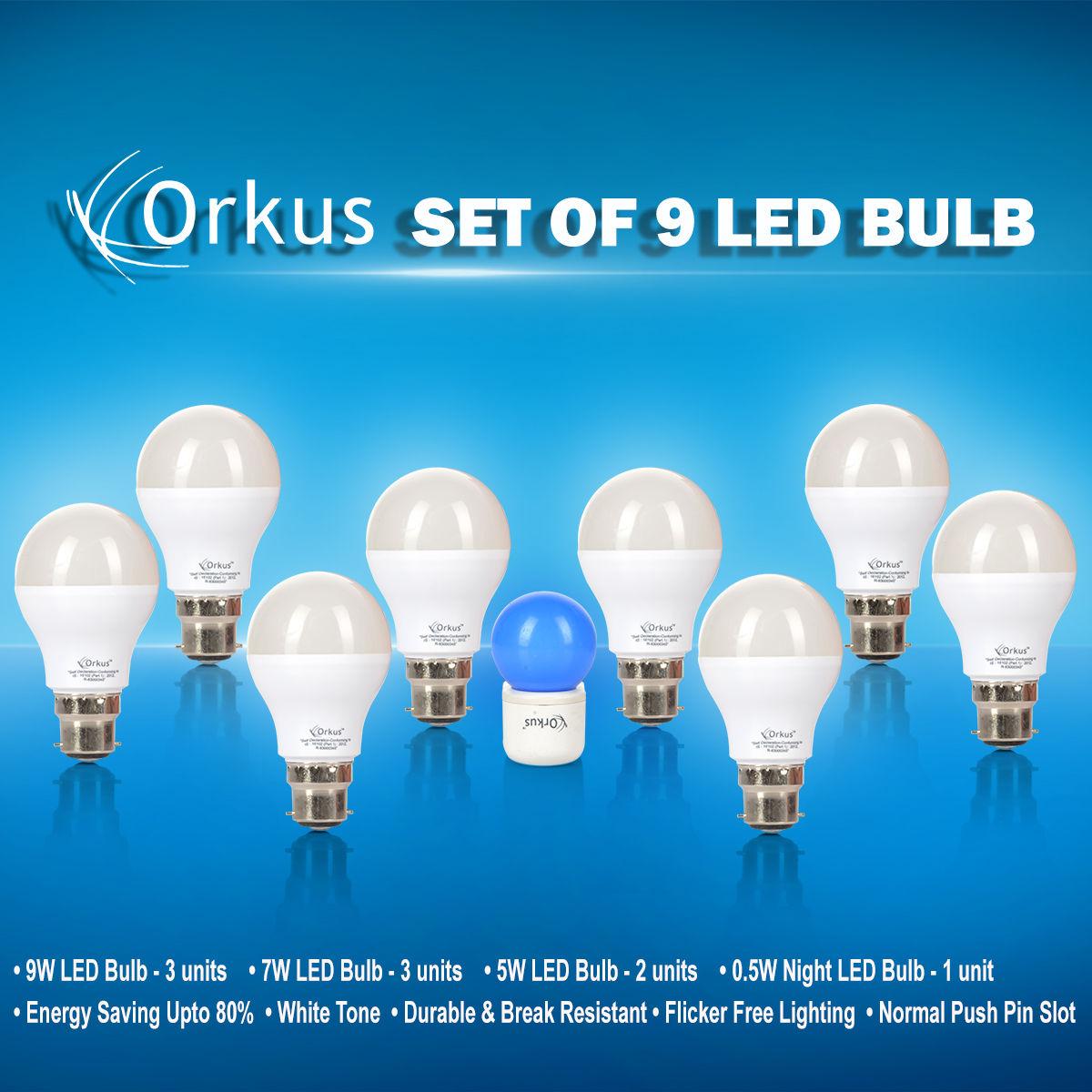 buy set of 9 led bulbs online at best price in india on. Black Bedroom Furniture Sets. Home Design Ideas