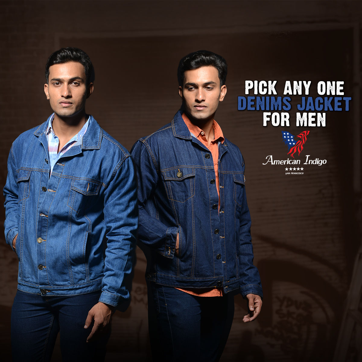 Buy American Indigo Men S Denim Jacket Pick Any One Online At Best