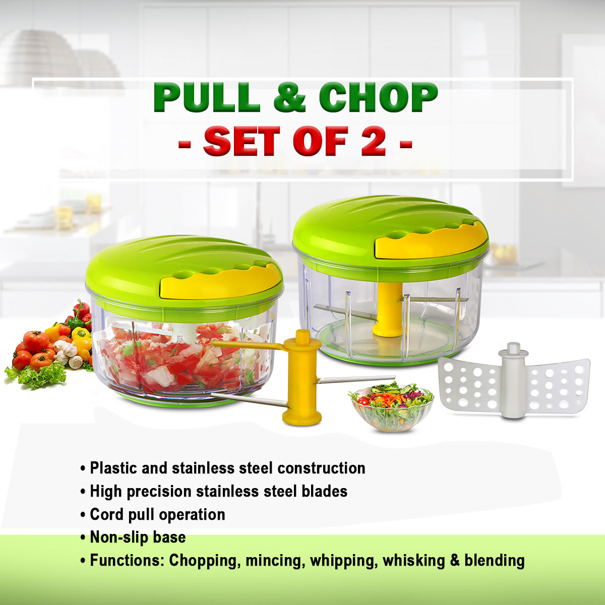 Buy Pull Chop Set Of 2 Online At Best Price In India On Naaptol Com