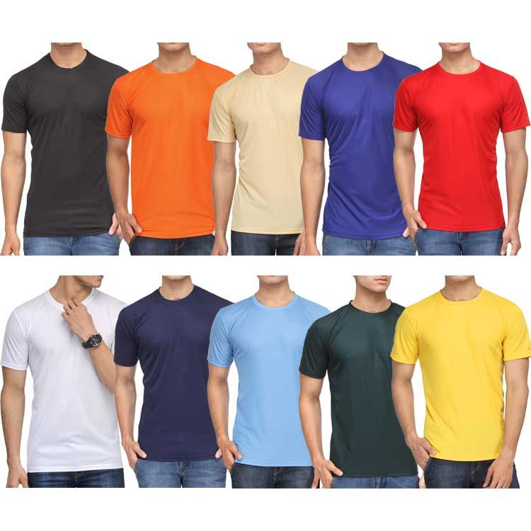 Buy pack of 10 rico sordi half sleeves plain tshirts for Plain t shirt pack