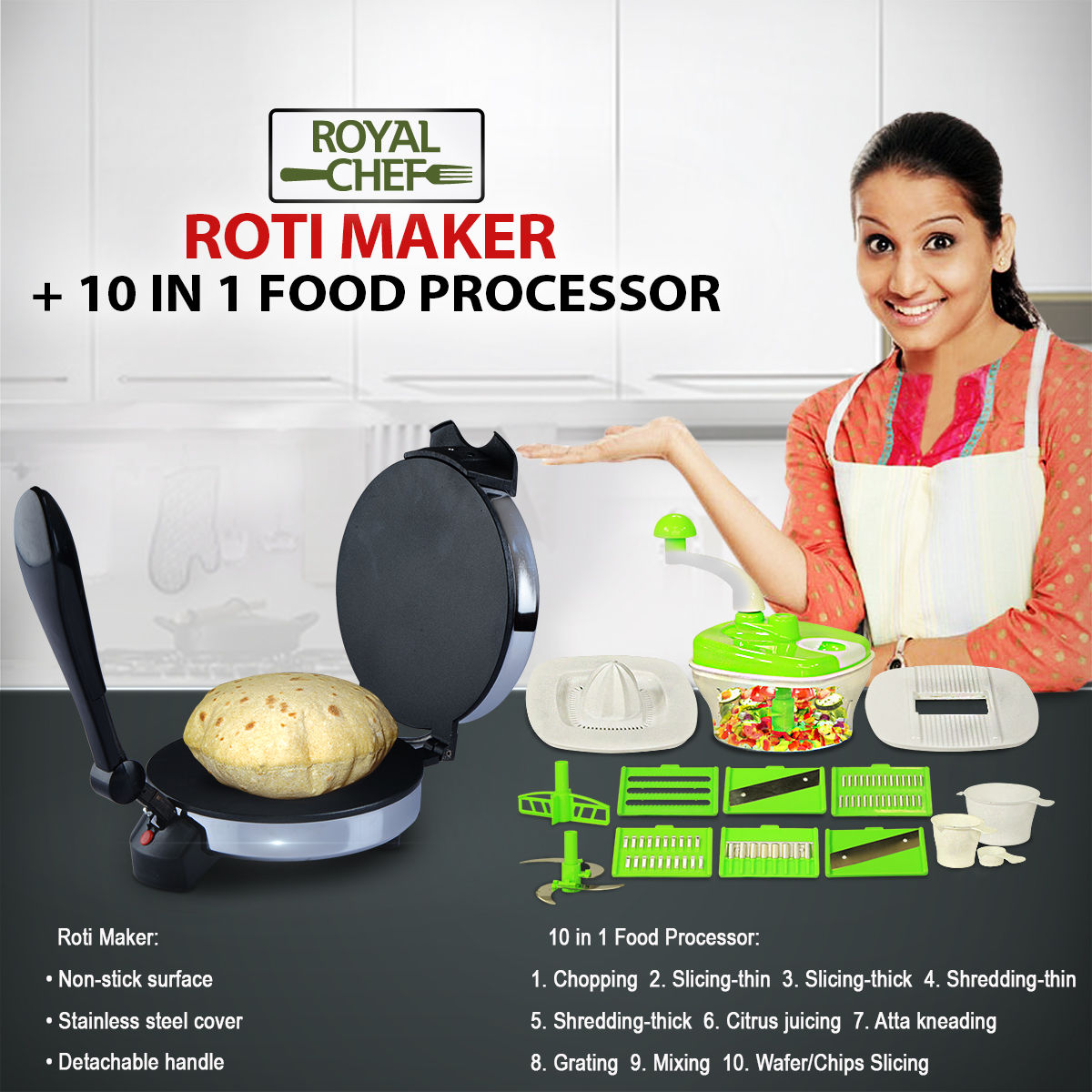 Buy Roti Maker 10 In 1 Food Processor Online At Best Price In
