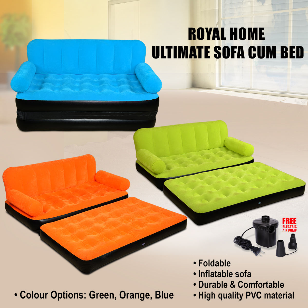 buy royal home ultimate sofa cum bed online at best price in india