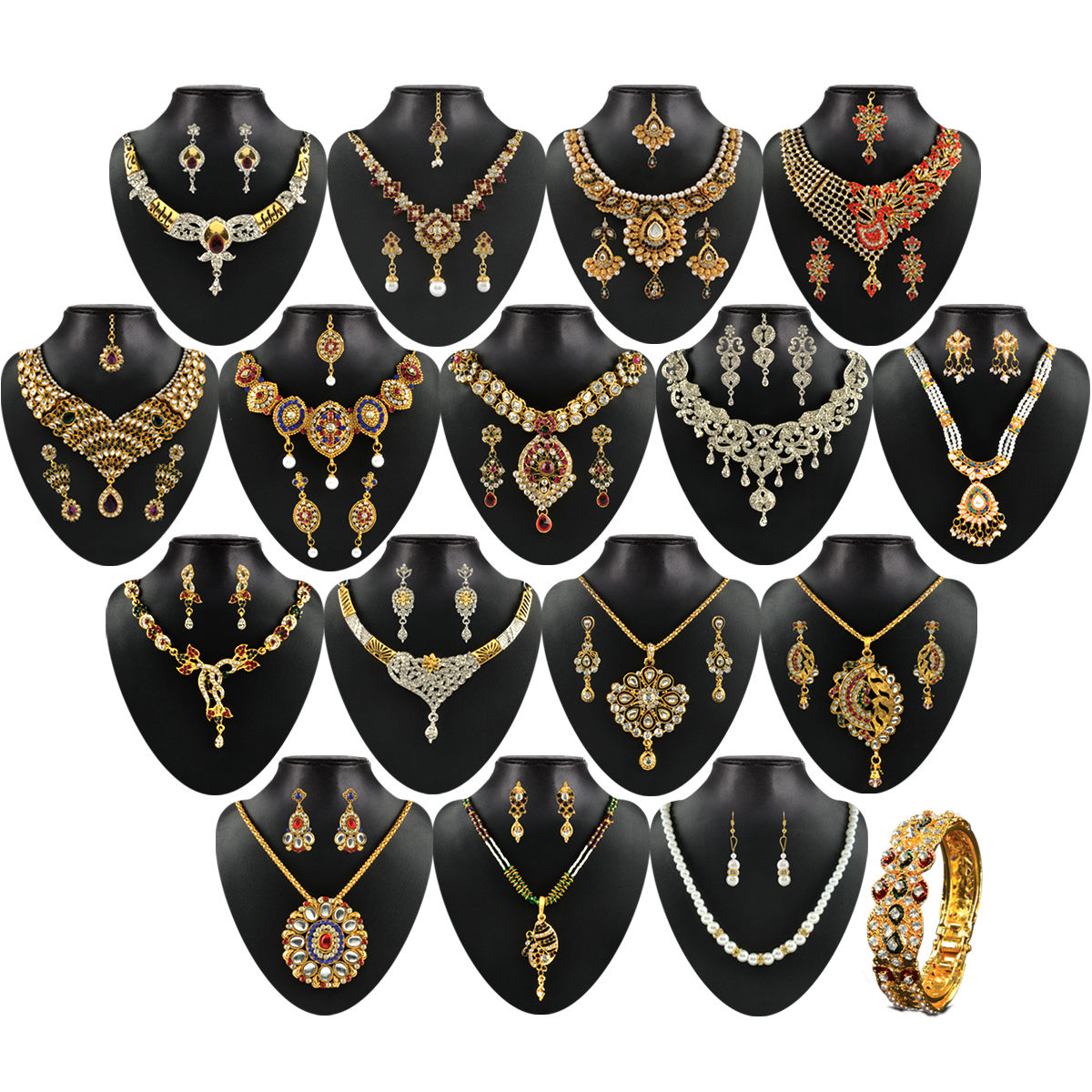 plated crystal set product jewellery yellow necklace chain billionia black earrings gold