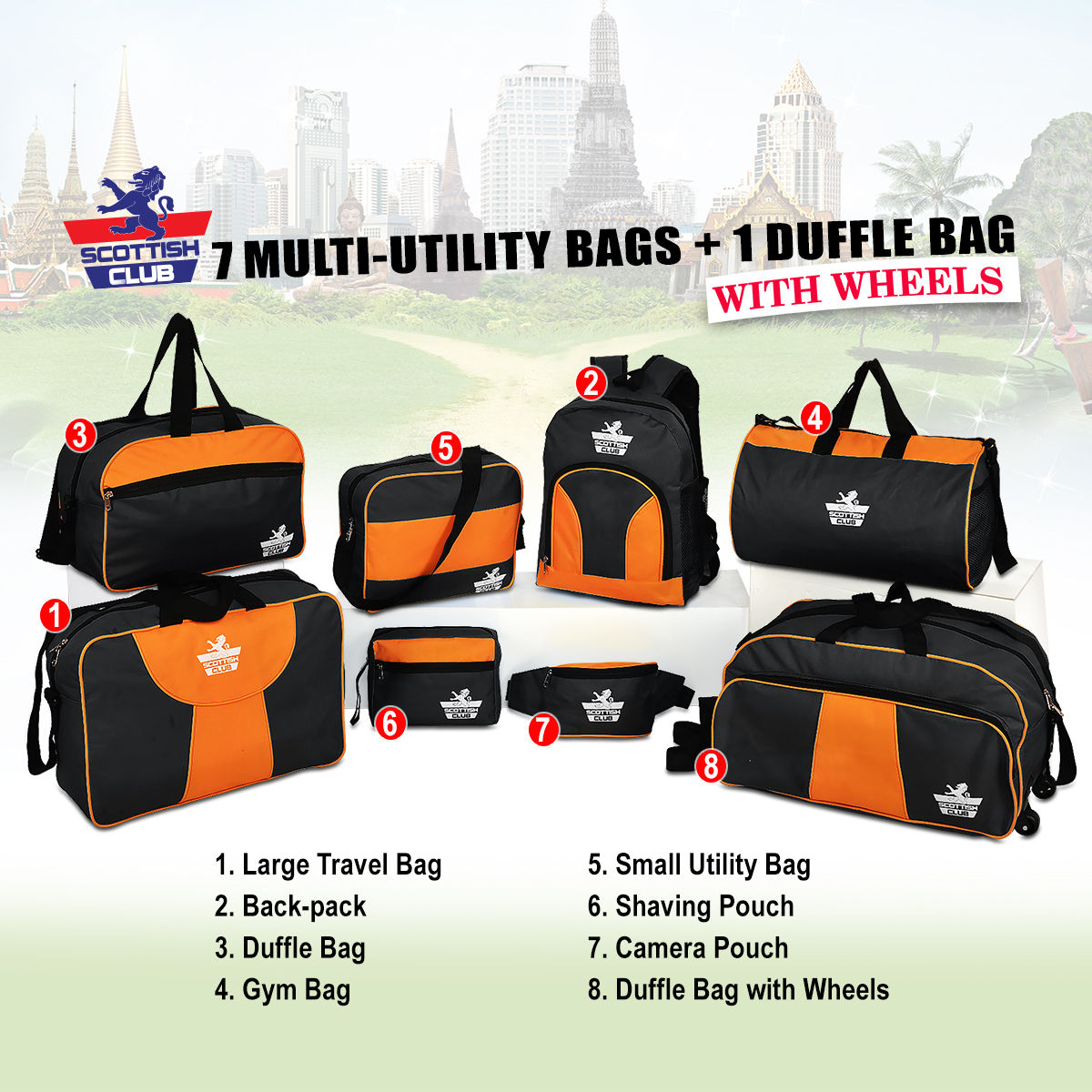 Buy 7 Multi-utility Bags + 1 Duffle Bag with Wheels Online at Best Price in  India on Naaptol.com bfeb2df7d7746