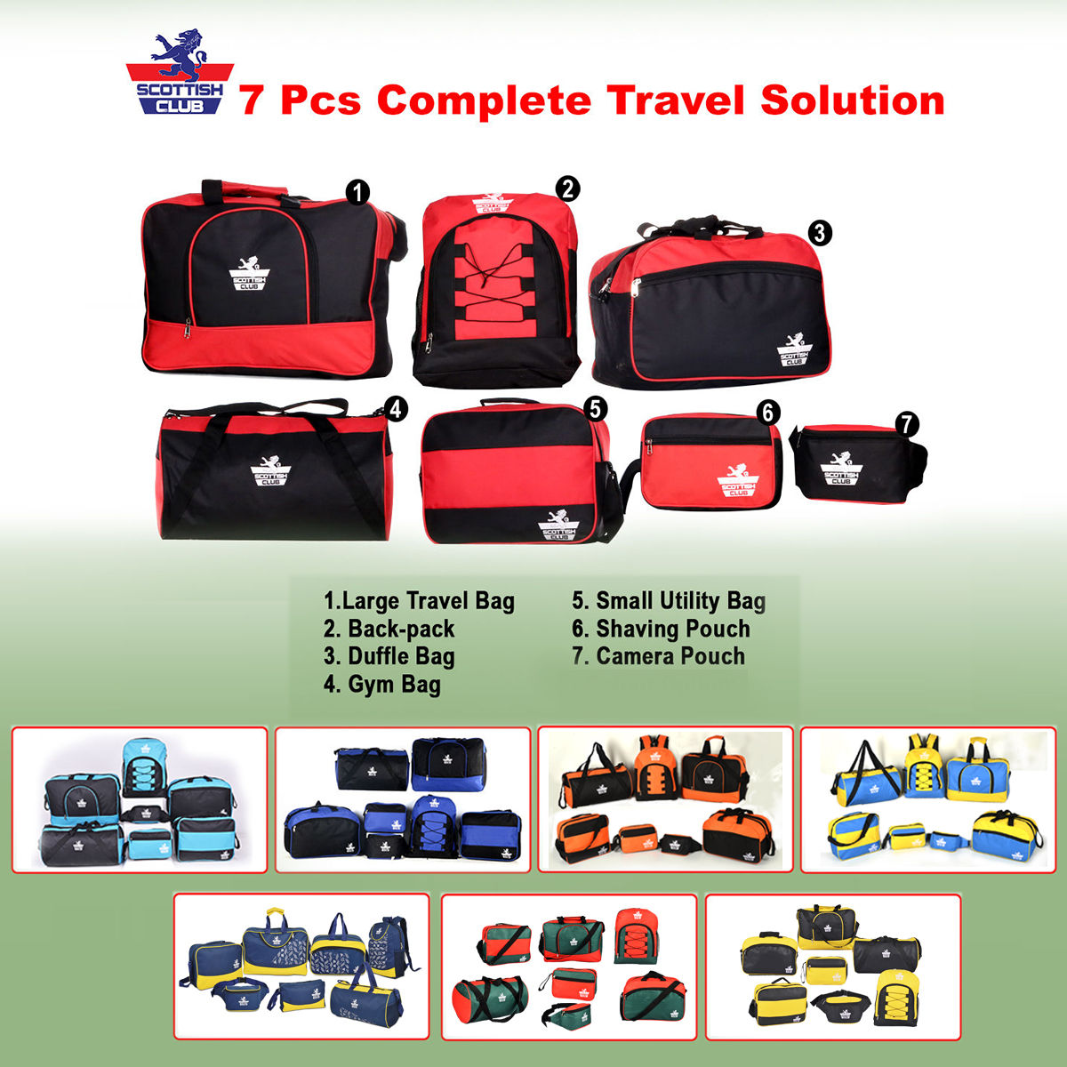 Buy Scottish Club 7 Pcs Complete Travel Solution Online at Best Price in  India on Naaptol.com d558b8291f15f