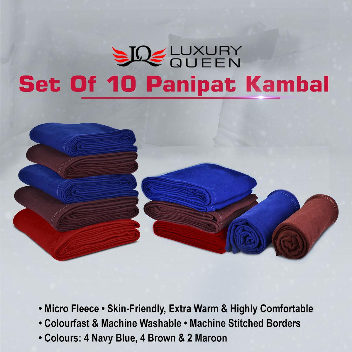 Buy Set Of 10 Panipat Kambal Online At Best Price In India