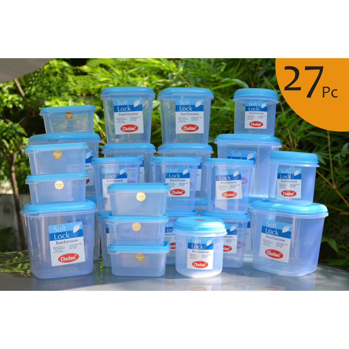 kitchen storage containers buy online buy chetan set of 27 pcs plastic airtight kitchen storage 8617