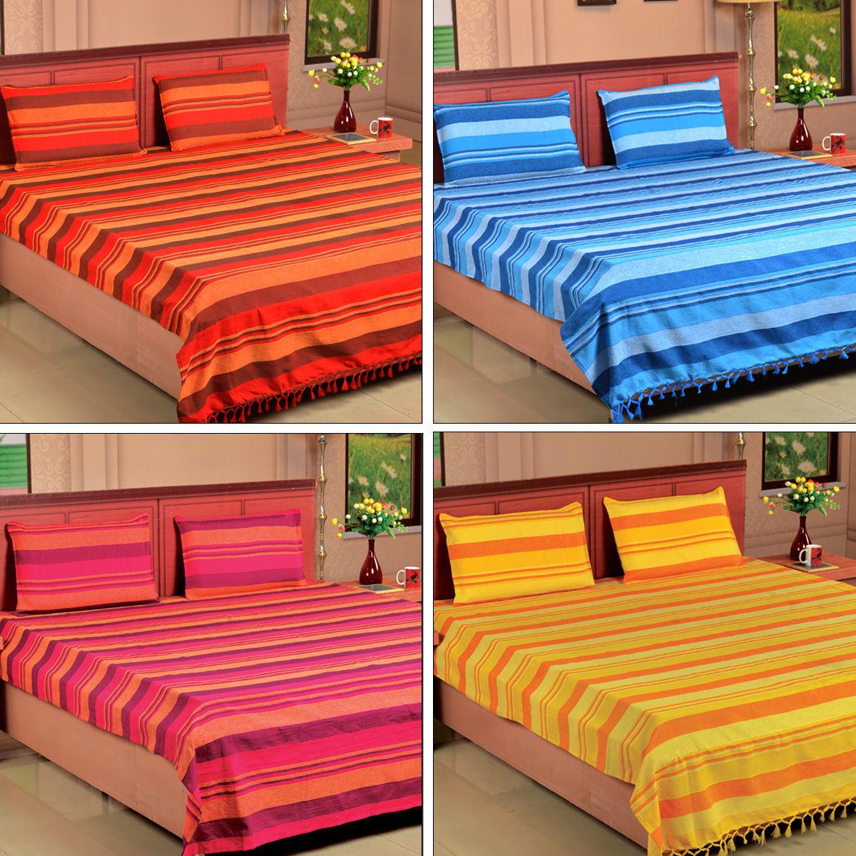 Buy Set of 4 Handmade Kerala Bedsheets Online at Best Price in India on  Naaptol.com 33b928563b99