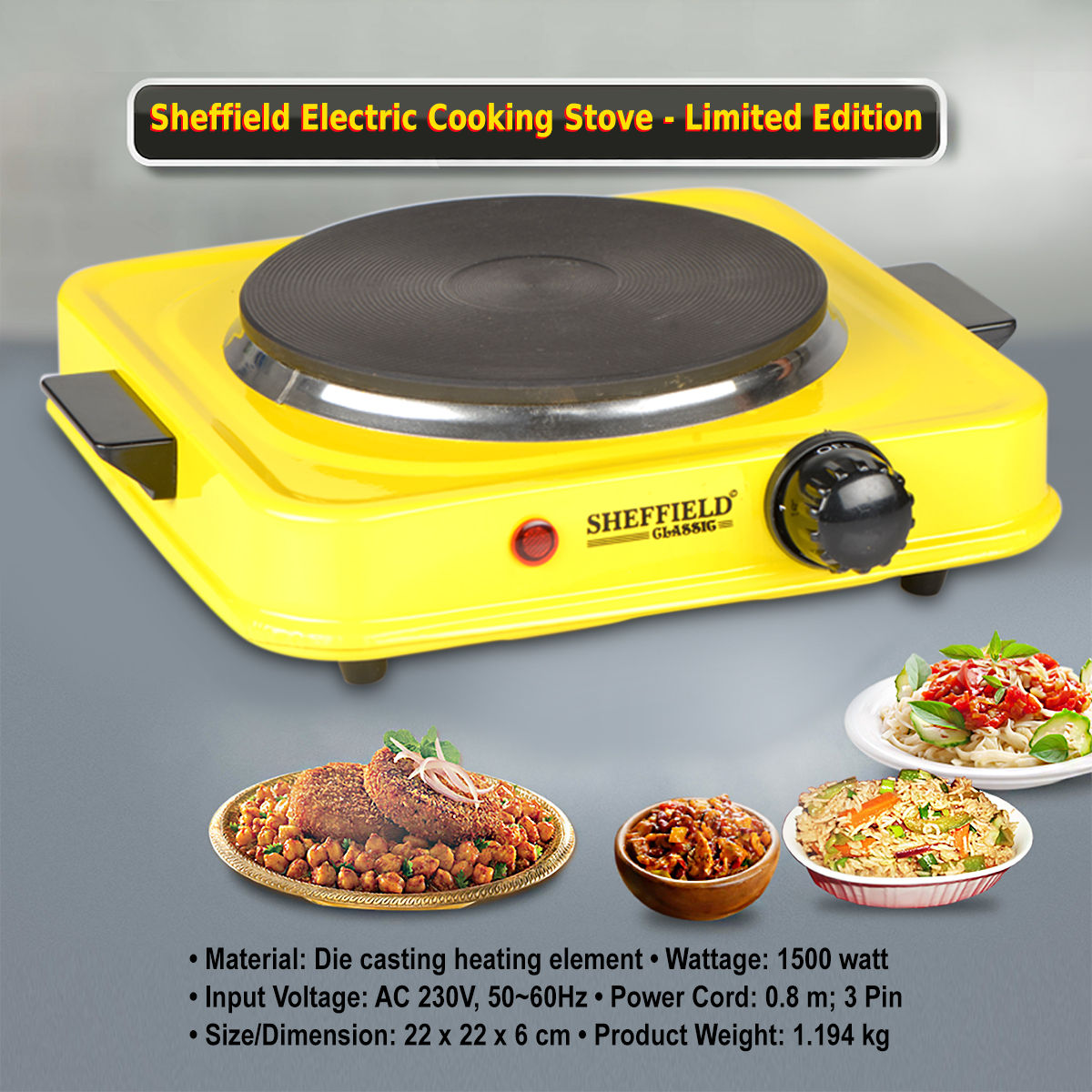 Buy Sheffield Electric Cooking Stove Limited Edition Online At