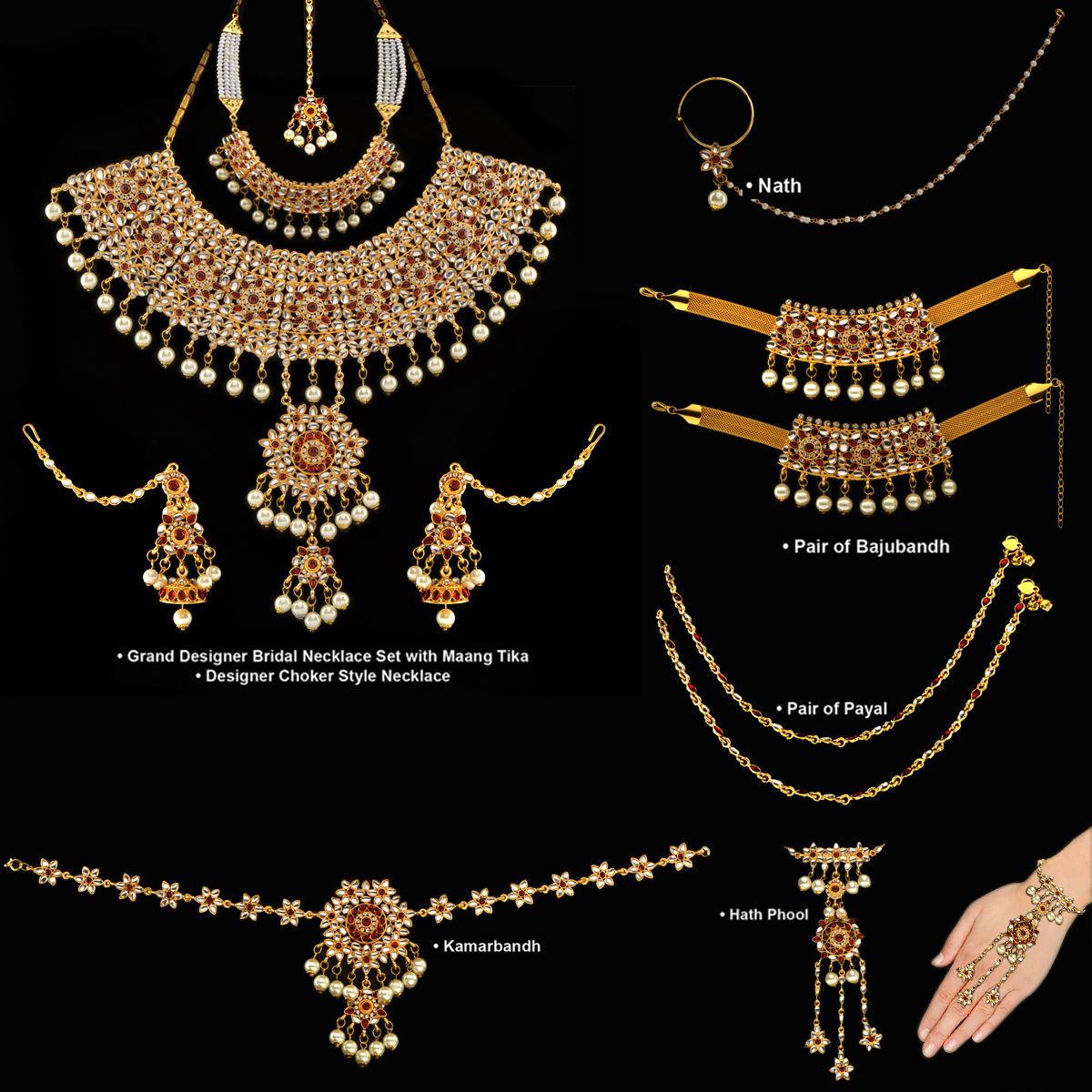 Buy Complete Bridal Jewellery Collection Online at Best Price in ...