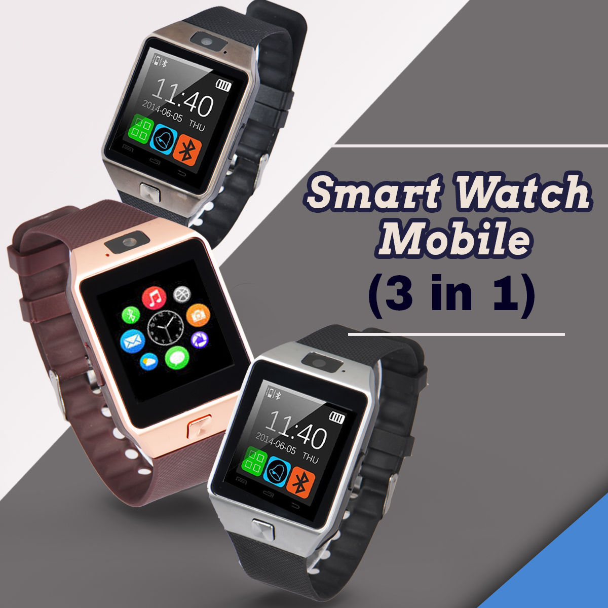 37f901c32b5 Buy Smart Watch Mobile (3 in 1) Online at Best Price in India on Naaptol.com