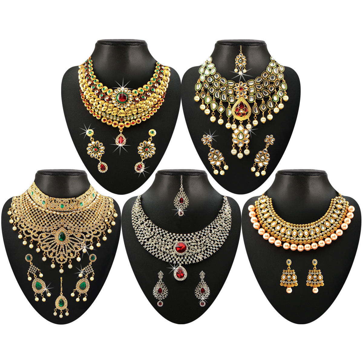 Buy Subh Vivah Heavy Grand Designer Jewellery Collection Online at ...
