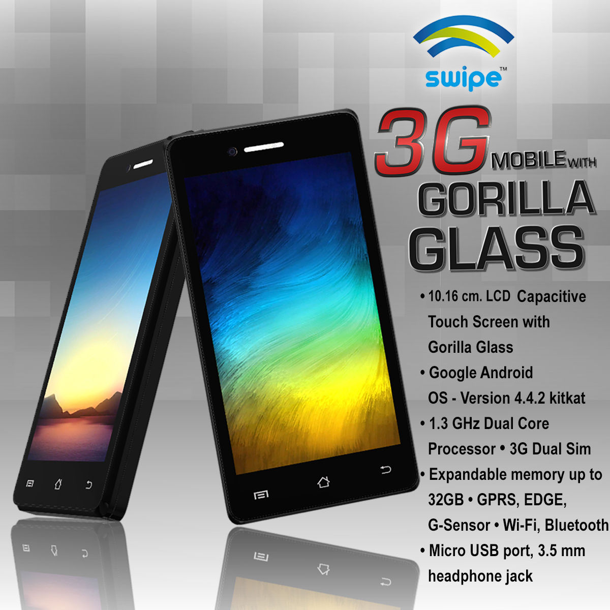 Buy Swipe 3g Mobile With Gorilla Glonline At Best Price In India On Naaptol Com