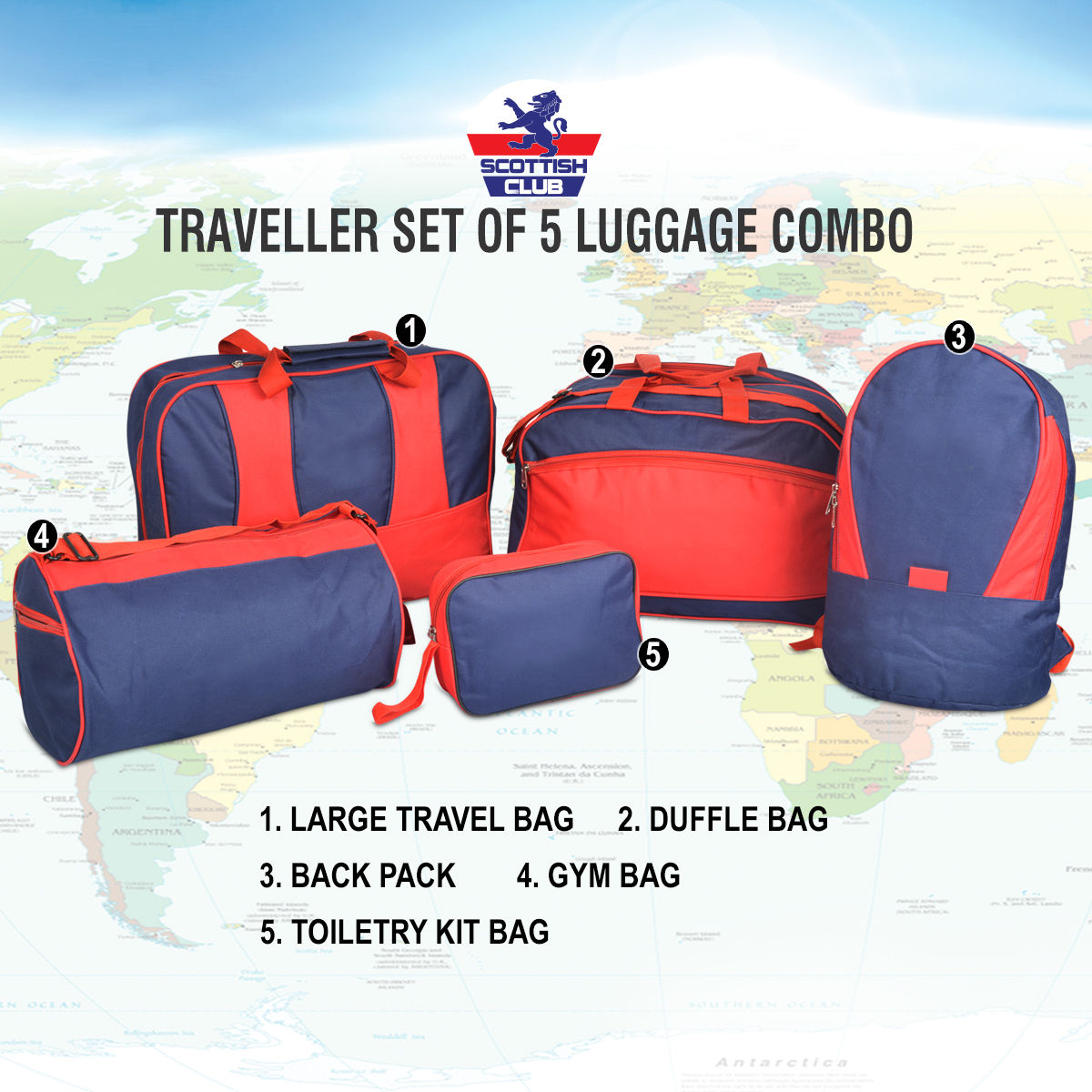 Buy Traveller Set of 5 Luggage Combo Online at Best Price in India on  Naaptol.com fb135276c31a8