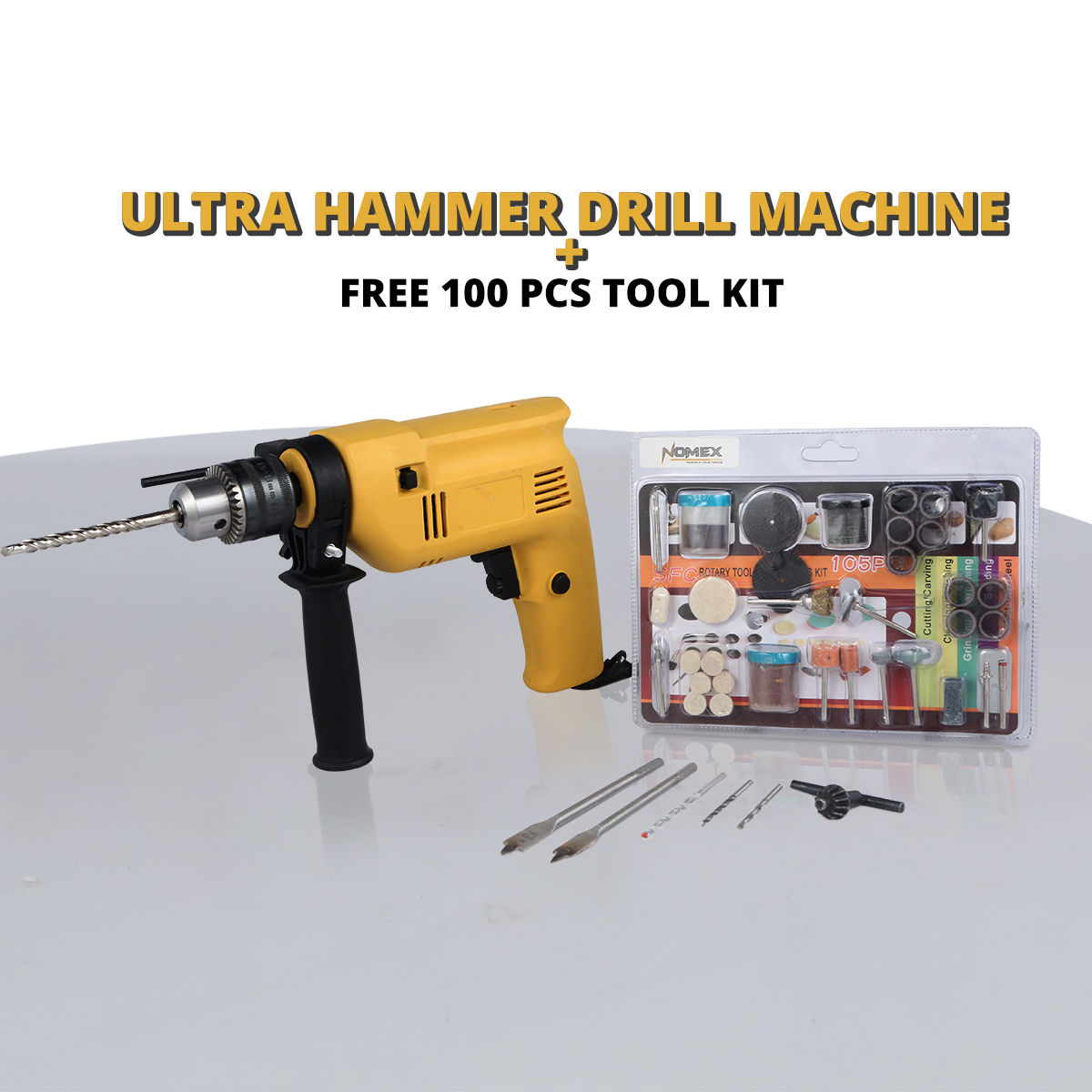 Buy Ultra Hammer Drill Machine + Free 100 Pcs Tool Kit ...
