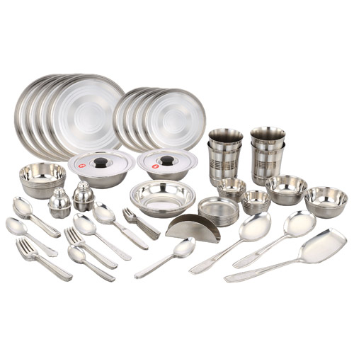Naaptol Kitchen Set: Buy Klassic Vimal 80 Pcs Stainless Steel Dinner Set