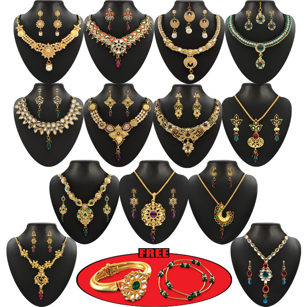 Buy Vaibhavi 15 Jewellery Sets Collection Online At Best Price In