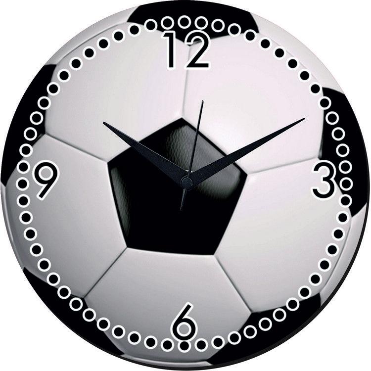 Football Design Wall Clock : Buy mesleep football wall clock with glass top wcgl