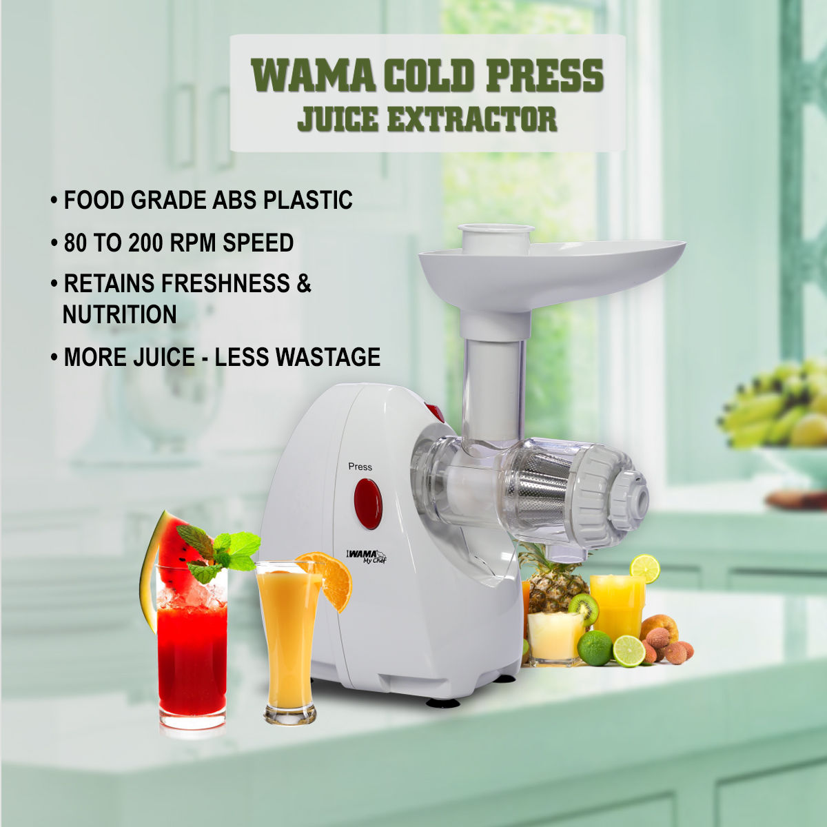 Wonderchef Cold Press Slow Juicer Digital Review : Buy Wama Cold Press Juice Extractor Online at Best Price in India on Naaptol.com