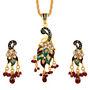 Sukkhi Creative Fashion Gold Plated Pendant Set